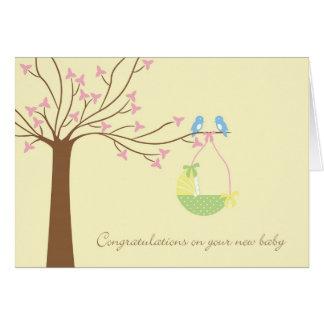 Bluebirds New Baby Congratulations Card