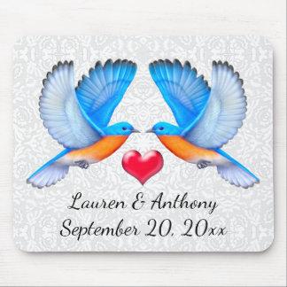 Bluebirds of Happiness Wedding Mousepad