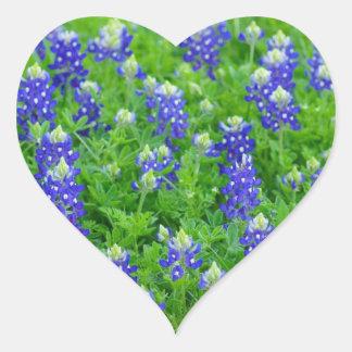 Bluebonnet Field Heart Sticker
