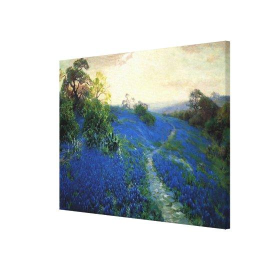 Bluebonnet Field, Julian Onderdonk painting Canvas Print