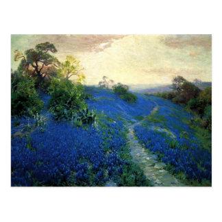 Bluebonnet Field, Julian Onderdonk painting Postcard