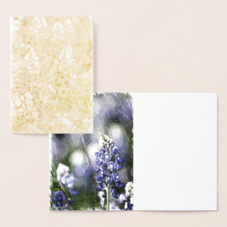 Bluebonnet Foil Card