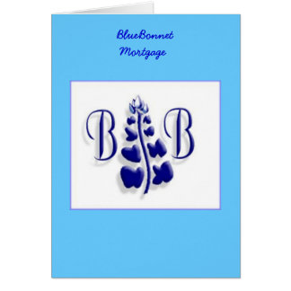 BlueBonnet Logo Card