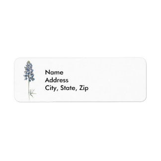 Bluebonnet Return Address Label