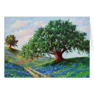 """Bluebonnet Road"" (Blank Card) Card"
