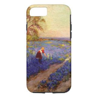 Bluebonnet Scene with Girl Case-Mate iPhone Case