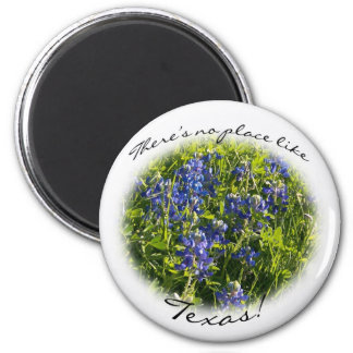 """Bluebonnet """"There's No Place Like Texas"""" Magnet"""