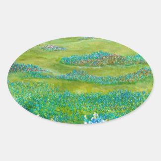 Bluebonnets Oval Sticker