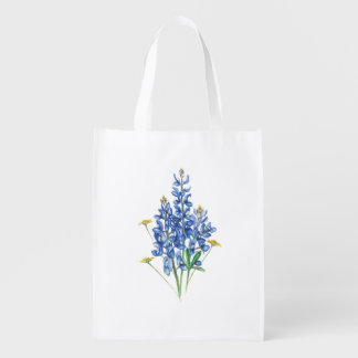 Bluebonnets Reusable Grocery Bags