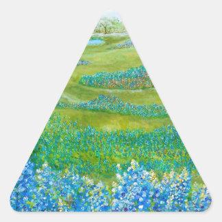 Bluebonnets Triangle Sticker