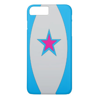 BLUECURVE,A PINK STAR AND LIGHT BLACK BACKGROUND iPhone 8 PLUS/7 PLUS CASE