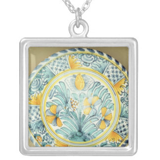 Bluedash' Delftware charger, Lambeth pottery Silver Plated Necklace