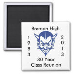 BlueDevil, Bremen High 30 Year Class Reunion Fridge Magnets