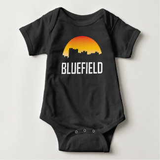 Bluefield West Virginia Sunset Skyline Baby Bodysuit