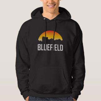 Bluefield West Virginia Sunset Skyline Hoodie