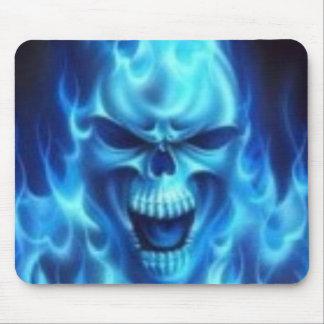 Bluefireskull Mouse Pad