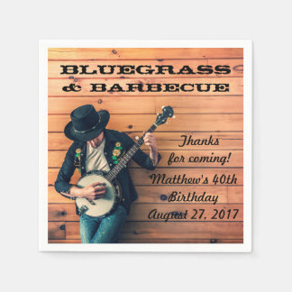 Bluegrass and Barbecue Party Paper Napkins