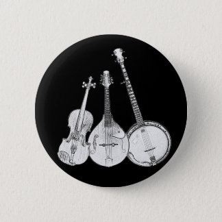 Bluegrass Band B&W 2 Inch Round Button