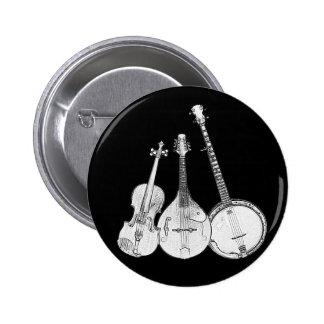Bluegrass Band B&W 2 Inch Round Button