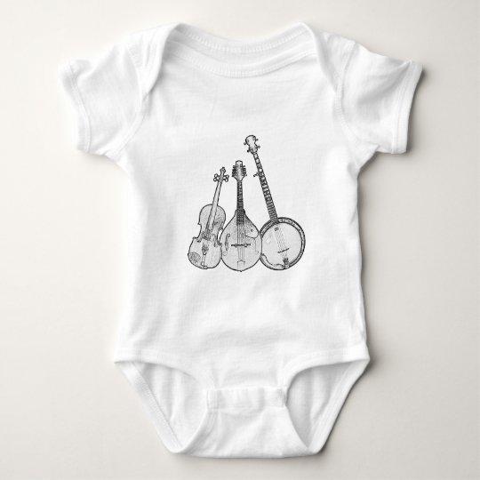 Bluegrass Band B&W Baby Bodysuit