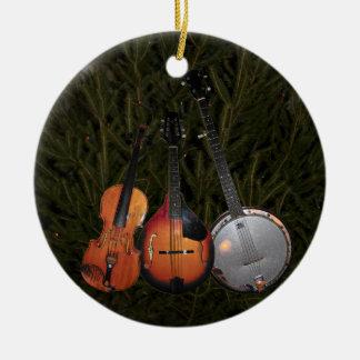 Bluegrass Christmas Tree Ceramic Ornament