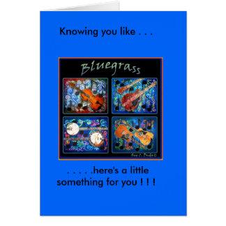 BLUEGRASS GREETING CARD
