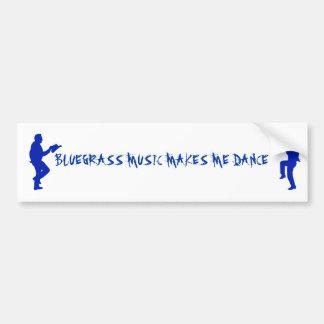 BLUEGRASS MUSIC-BUMPER STICKER