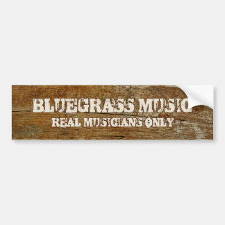 Bluegrass Music Bumper Sticker