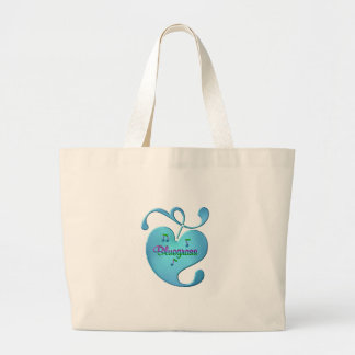 Bluegrass Music Love Large Tote Bag