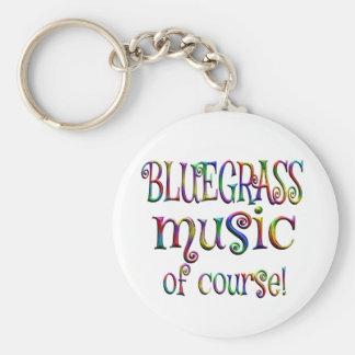 Bluegrass of Course Basic Round Button Keychain