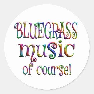 Bluegrass of Course Classic Round Sticker