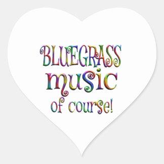 Bluegrass of Course Heart Sticker