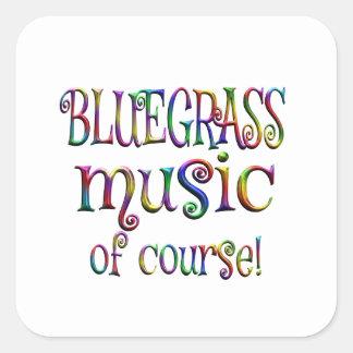 Bluegrass of Course Square Sticker