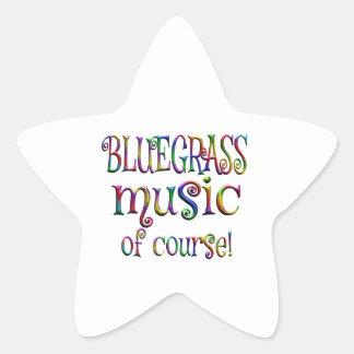 Bluegrass of Course Star Sticker