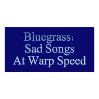 Bluegrass: Sad Songs At Warp Speed Photo Cards