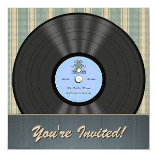 Bluegrass Vintage Vinyl Record Party Invitations