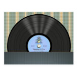 Bluegrass Vinyl Record Personalized Postcards