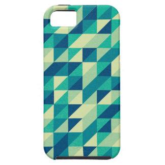 Bluegreen Geometric Pattern iPhone 5 Cases