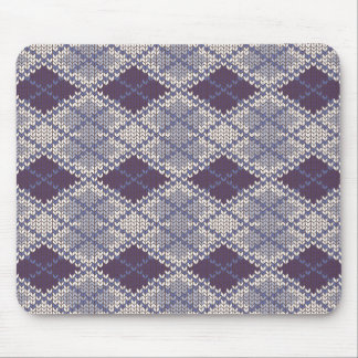 BlueGrey Argyle Knit Mousepad