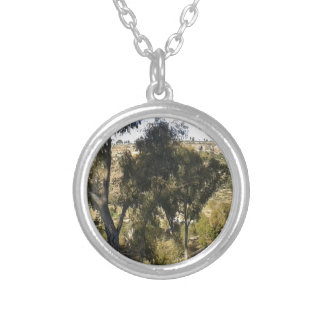 Bluegum Trees Silver Plated Necklace