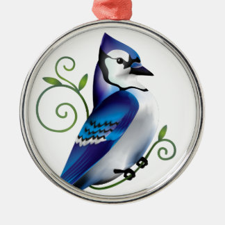 Bluejay Day Metal Ornament
