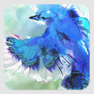 BlueJay Swaylrg Square Sticker