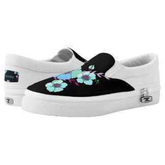 Bluelight Summer flower Slip-On Sneakers