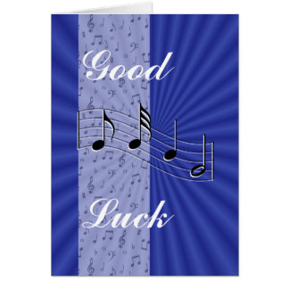 BlueMusicnote strip-customize any occasion Card