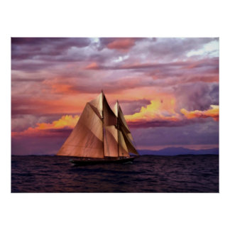 Bluenose at sunset I Poster