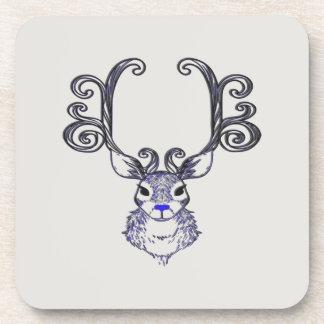Bluenoser Blue nose Reindeer cute deer coaster set