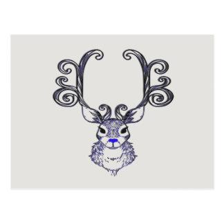 Bluenoser Blue nose Reindeer cute deer   postcard