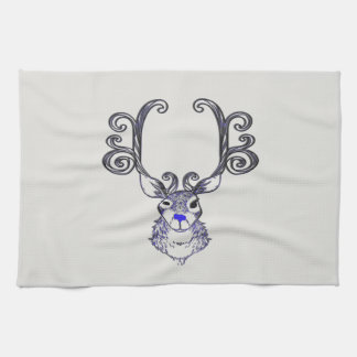 Bluenoser Blue nose Reindeer cute deer towel