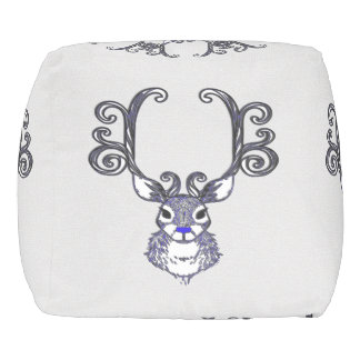 Bluenoser Blue nose Reindeer cute pouf pillow