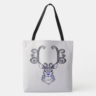Bluenoser Blue nose Reindeer cute tote bag